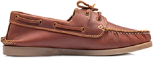 TZARO Genuine Leather Tan Boat Shoes - Timber