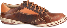 TZARO Textured Brown Leather Casual Lifestyle Shoes - Crz Neo, FA68B03CRZ