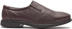 TZARO Genuine Leather Slip-On Formal Shoe - Chocolate Geneva, FREMC2424CHC