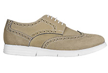 TZARO SuperLight Genuine Leather Brogues - Gimlet, Olive