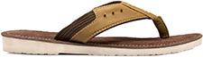 TZARO Genuine Leather Brown Slippers - Travolta, SLPCLD198V2