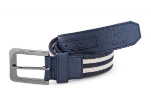 Navy Blue Leather Canvas Genuine Leather Belt Online