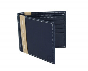 Bifold Blue Leather Wallet Online