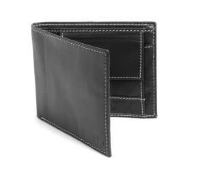 Black Colour bifold leather Wallet online
