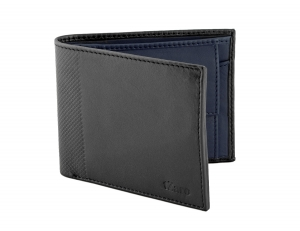 Bifold Twin Color Leather Wallet Online
