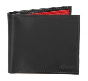 Black & Red Bifold Wallet for Men's Online