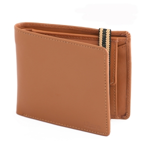 Tan Color Bifold Stylish Genuine Leather Wallet Online