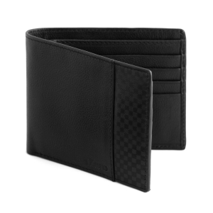 Bifold Classic Black Leather Purse for Men's Online