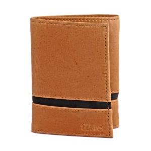 Trifold Tan Black Genuine Leather Wallet for Men's Online