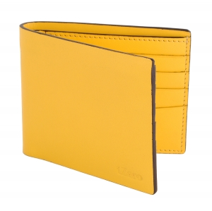 Yellow Bifold Genuine Leather Purse Online