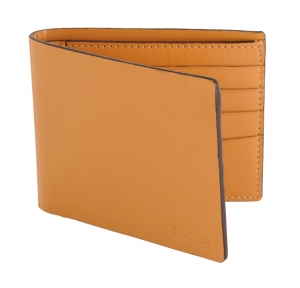 Yellowish Beige Leather Wallet for Men's Online