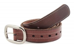 Formal Leather Belt   Dark Tan Color Genuine Leather Belt Online