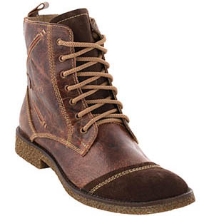 Men's Chocolate Brown Color Genuine Leather Boots Online