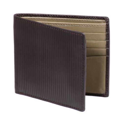 Brown Bifold Genuine Leather Wallet for Men's Online