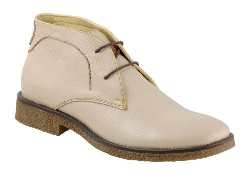 White Genuine Leather Ankle Boots Online