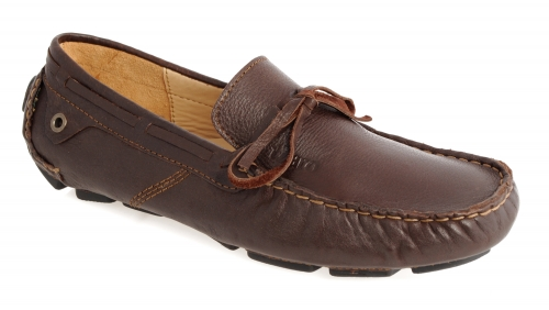 Dark Chocolate Leather Driving Shoes for Men Online