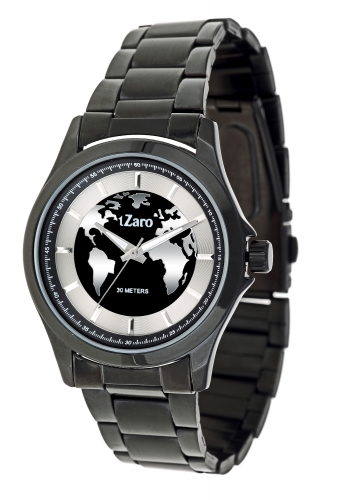 Black White Chain Analog Mens Watch