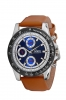 Tan Leather Strap Analog Multifunction Wrist Watch Online