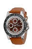 Tan Leather Strap Multifunction Wrist Watch for Men Online