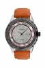 Leather Strap Men's Watch with Day & Time Online