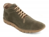 Olive Green Leather Low Ankle Boot for Men Online