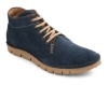 Navy Blue Leather Low Ankle Boots for Men Online