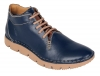 Navy Blue Olive Green Genuine Leather Low Ankle Boots Online