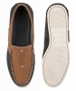 Navy Tan pure Leather Boat Shoes Online
