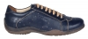 Navy blue leather casual shoes