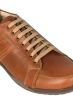 Tan Brown Leather Sneakers