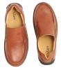Tan Genuine Leather Slipon Shoes Online for Men Online