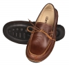 Dark Tan Slip-on Genuine Leather Boat Shoes Online