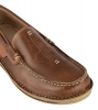 Brown leather slip-on