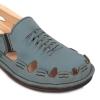 blue men's leather sandal