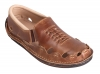 brown leather sandal