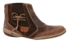 Textured Brown Crazy Horse Genuine Leather Boots Online