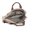 Beige & Tan Color Canvas Leather Laptop Bag Online