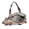 Beige Canvas Genuine Leather Office Bag for Men Online