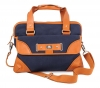 Blue & Tan Canvas Leather Bag for Men Online