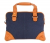 Blue & Tan Canvas Leather Bag for Men Online