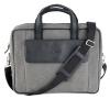 Dark Gray Canvas Leather Laptop Bag for Men Online