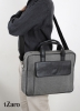 Dark Gray Canvas Leather Laptop Bag for Men Online