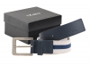 White Navy Blue Casual Belt for Men Online