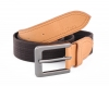 Brown Beige Canvas Leather Belt for Men Online