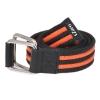 Black & Orange Canvas Genuine Leather Belt for Men Online