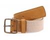 Beige Light Tan Canvas Genuine Leather Belt Online