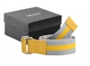 Grey - Yellow Color Casual Leather Belt for Men Online