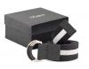 Black & White Canvas Leather Belt Online