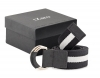 Black & White Canvas Leather Belt Online