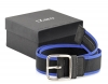 Black & Blue Leather Belt for Men  Online